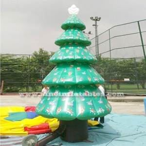 Outdoor giant advertising inflatable Christmas tree