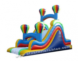 rainbow balloon inflatable slide