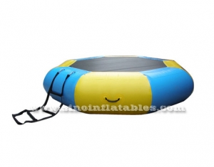 kids inflatable water trampoline with ladder