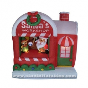 Newest outdoor advertising inflatable Christmas house