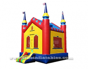 outdoor kids high castle bounce house