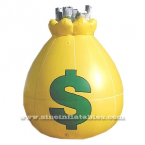 yellow saving box inflatable promotion molds