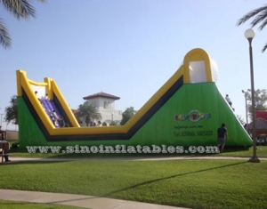 U shape giant inflatable zorb roller ramp