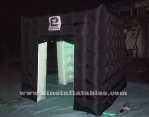 black cube colorful LED inflatable photo booth