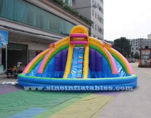 kids banzai large inflatable water pool slide