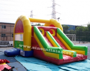 Colorful kids inflatable combo
