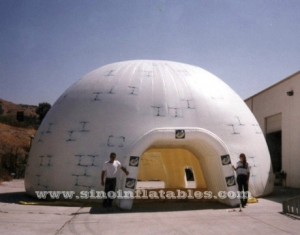 triple layers white inflatable dome tent