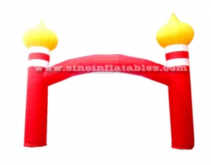 Entrance advertising inflatable arch