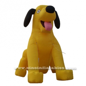big yellow inflatable dog model