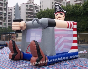 commercial grade small indoor kids pirate inflatable bouncy castle