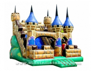 medieval palace inflatable slide