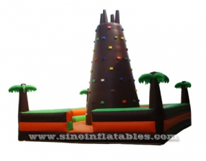 inflatable climbing tower with trees