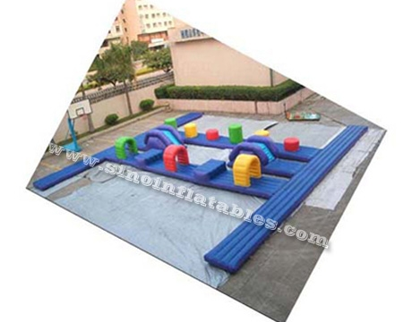 big boot camp inflatable water obstacle course