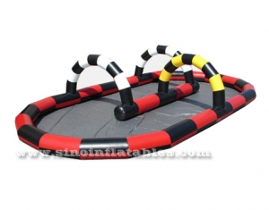 inflatable zorb ball race track with floor
