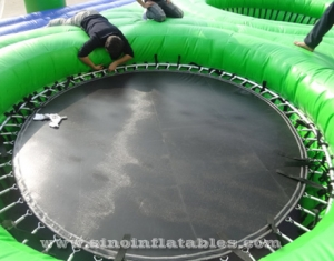 adults big inflatable bossaball court
