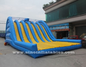 6 lanes giant inflatable adult slide