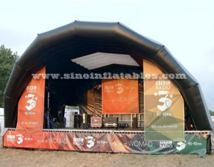 outdoor big inflatable stage tent with light hooks