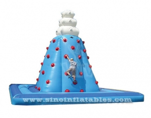 giant inflatable rock climbing tower