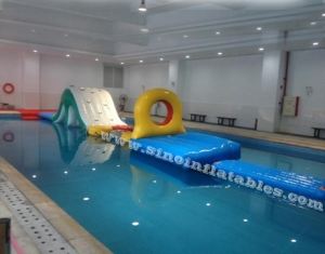indoor boot camp long inflatable water obstacle course
