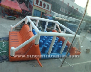 hit and run adult inflatable balance obstacle course
