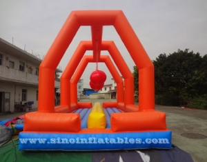 kids N adults balance beam inflatable obstacle course