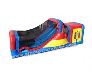 inflatable bounce house with tunnel slide