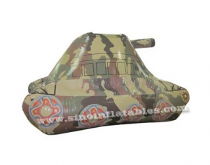 desert storm paintball inflatable military tank