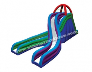 giant crossed inflatable slide for adults n kids