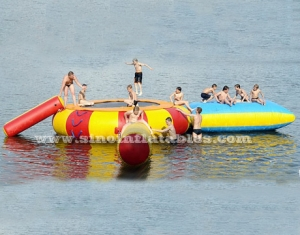 Water game use kids N adults inflatable water trampoline