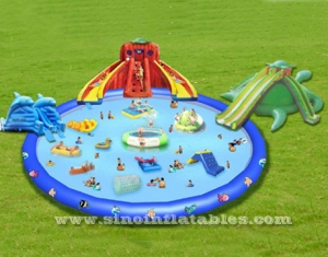 Kids N adults giant inflatable water park on land