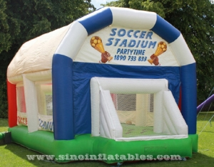 kids inflatable football court with roof
