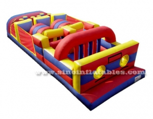 kids parties backyard inflatable obstacle course game