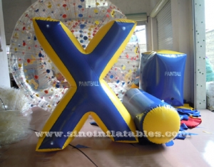 giant X inflatable paintball bunker
