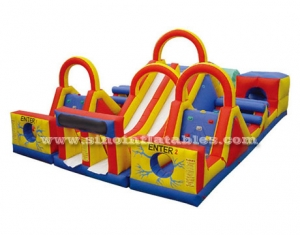 Super fun outdoor commercial kids inflatable obstacle course