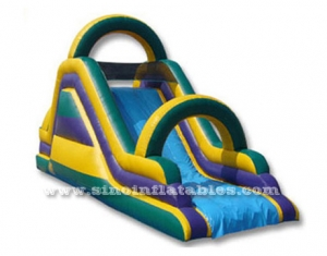 inflatable dry slide with arch