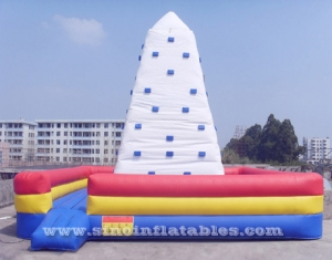 Rock mountain inflatable climbing wall