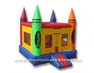 kids crayon small bounce house
