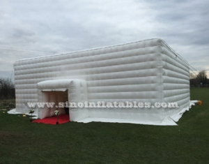 white music party inflatable cube tent