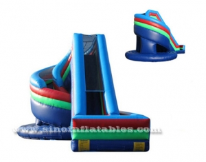 big kids spiral inflatable slide