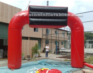 outdoor red Dodge inflatable arch