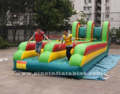 double lanes inflatable bungee run