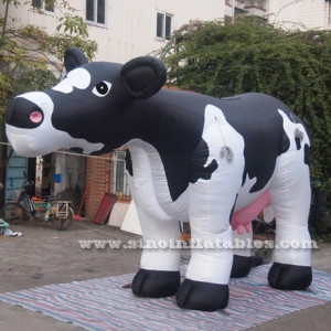 5 meters long giant outdoor advertising inflatable milk cow