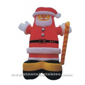 Giant outdoor advertising inflatable Xmas man