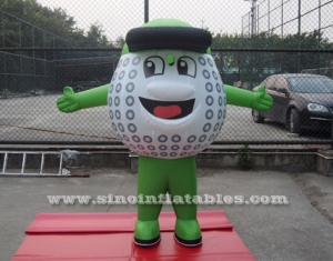 outdoor inflatable golf ball moving cartoon