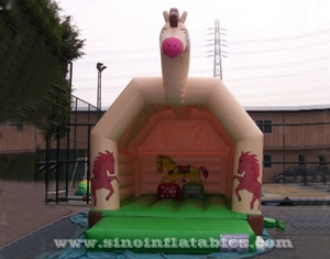 Hot sale outdoor kids horse inflatable bouncy castle