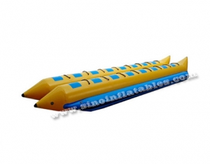 Custom made double rows 16 person inflatable flying fish boat