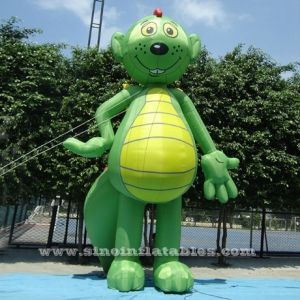 green lovely standing inflatable lizard