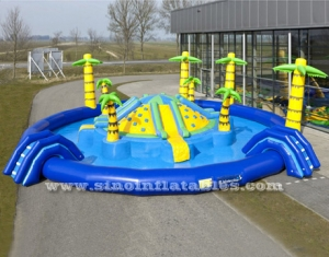 tropic sea beach giant kids N adults inflatable water park