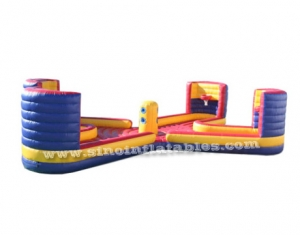 4 persons interactive inflatable sports bungee game