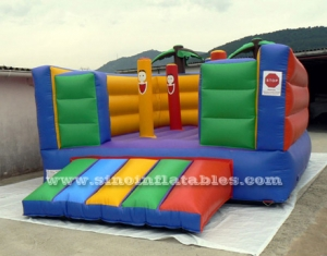 indoor kids clown inflatable bouncy castle